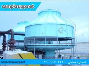 برج خنک کننده فایبر گلاس مخروطی